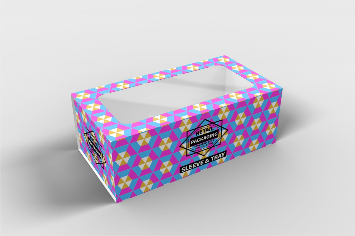retail premium product box sleeve and tray